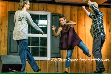 Fiddlin' Dave and Morgan with Dancers