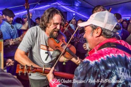 Musicians Jam in the Neurology Tent
