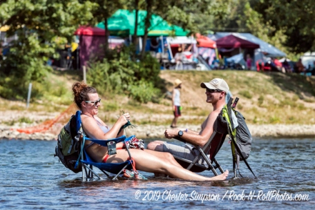 Swimming on the Shenandoah River during the Watermelon Festival