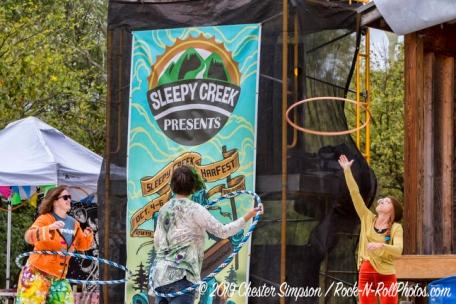 Sleepy Creek with  a Hula Hoop workshopMama Corn